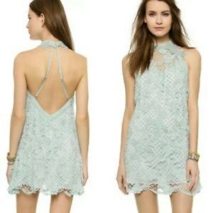 Free People Snowdrop Lace Overlay Trapeze Dress